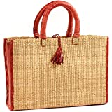 Baskets of Africa Fair Trade Ghana Bolga African Dye-Free Business Basket 15-16 Across, 58247