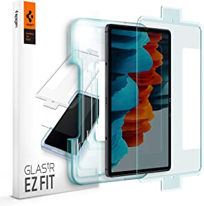 Spigen Tempered Glass Screen Protector [Glas.tR EZ Fit] Designed for Galaxy Tab S7 (11 inch) [9H Hardness/Case-Friendly]