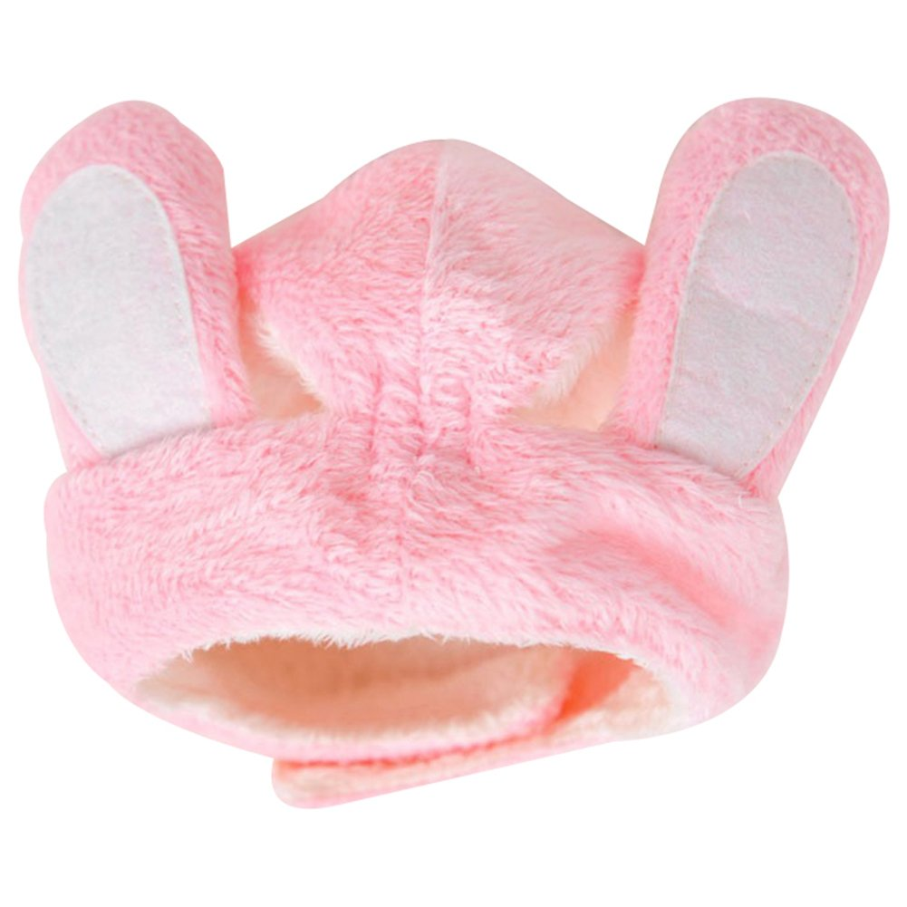 BUYITNOW Bunny Dog Hats with Rabbit Ears for Pet Cat Party Costume Accessory Stuffed Headwear Small
