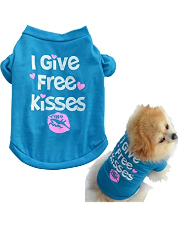 Howstar Pet Shirts Super Cute Puppy T Shirt Kisses Printed Dogs Summer Vest  Costumes Cat Tank 63a481b83