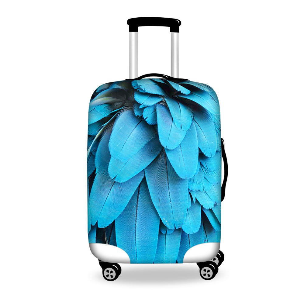 FOR U DESIGNS 18-22 Inch Small Elegant Floral Print Lovely Luggage Cover for Girls Romantic Valentine's Day Gift HB0212S1