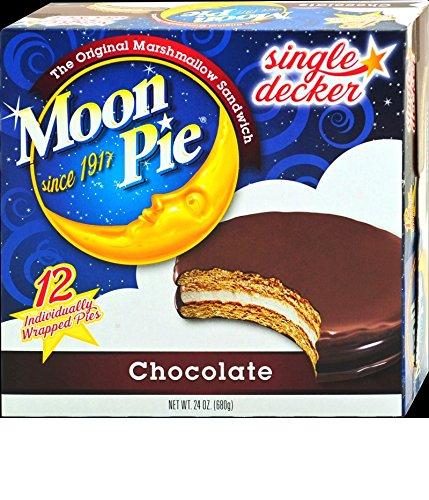 Single Decker Moonpies - Choose your favorite flavor - Chocolate, Vanilla, Banana & Salted Caramel (Chocolate) ()