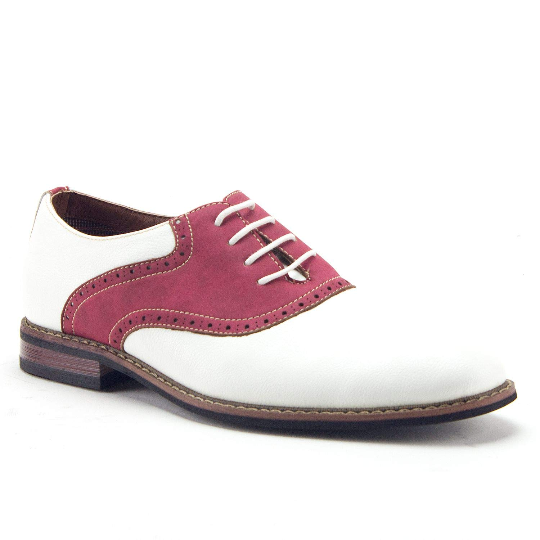 65a7ab0e42987 Ferro Aldo Men's 19268A Two Tone Saddle Oxfords Dress Shoes