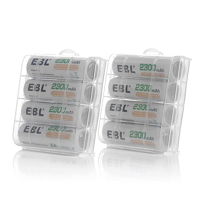 EBL Rechargeable AA Batteries 2300mAh Long Lasting Battery (8 Counts) with Battery Charger for AA AAA Batteries