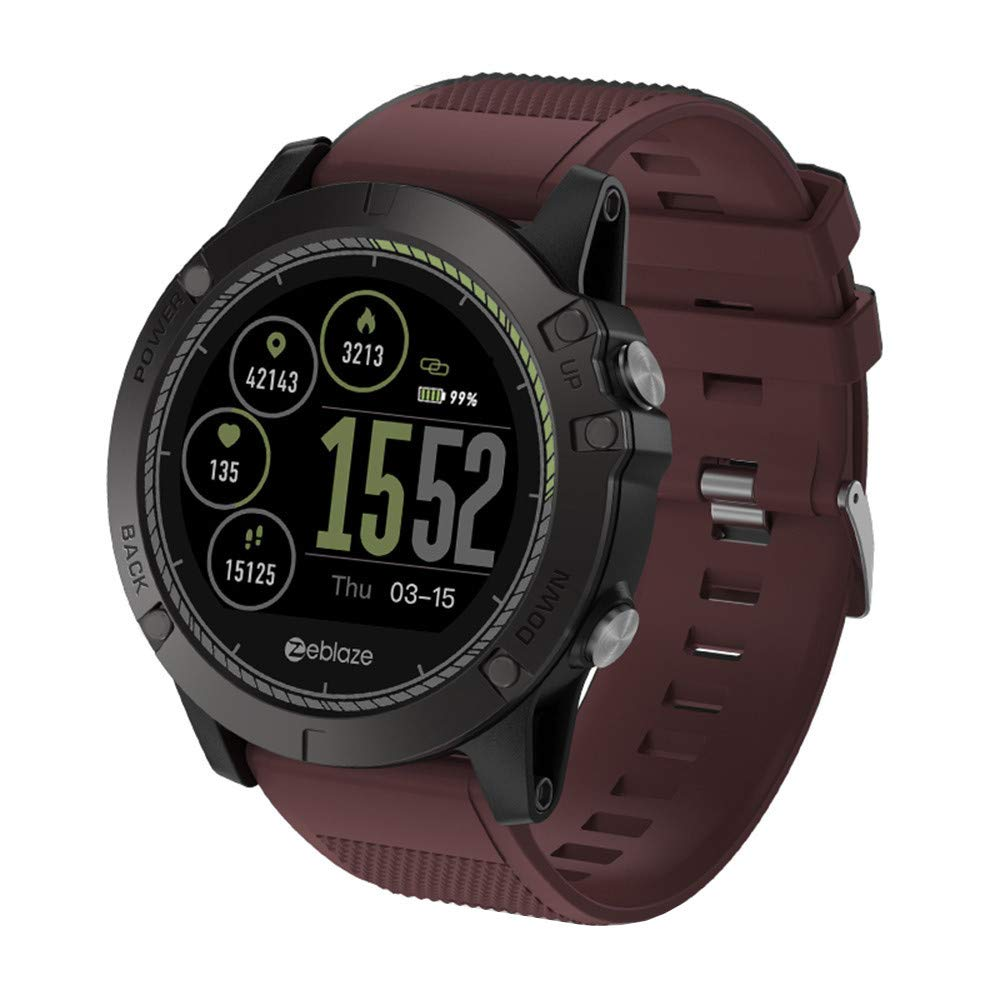 Zeblaze Vibe 3 HR Sports Mens Smartwatch,for iOS/Android 5 ATM Waterproof, Bluetooth 4.0