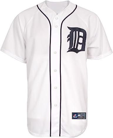 Majestic MLB Detroit Tigers White Replica Baseball Jersey