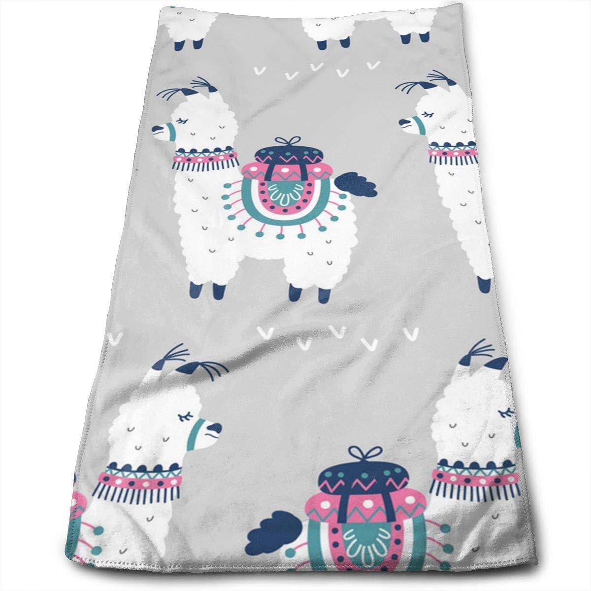 OQUYCZ Cartoon Llama Microfiber Bath Towels for Hotel-SPA-Pool-Gym-Bathroom - Super Soft Absorbent Ringspun Towels