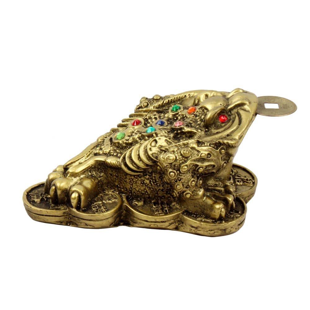 petricor Fengshui dinero rana de 3/patas con moneda para decoraci/ón del hogar y regalo