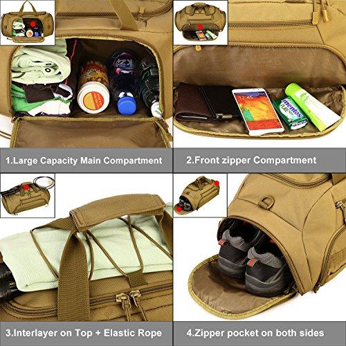ArcEnCiel Tactical Duffle Bag Men Gym Backpack Large Capacity Military Rucksack Molle Shoulder Bags Shoes Storage Sports Handbag