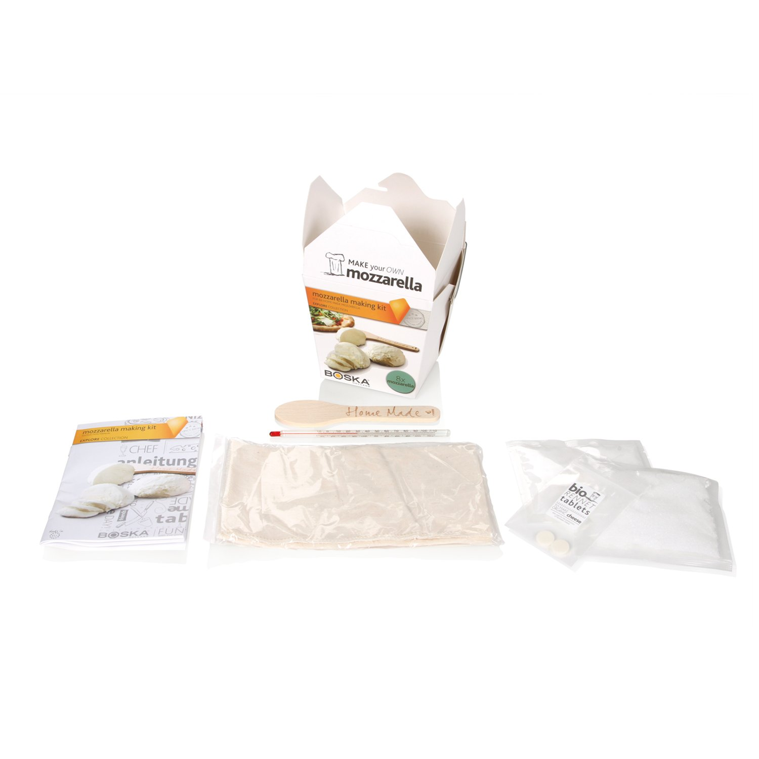 Boska Holland Mozzarella Cheese Making Kit, Homemade Set, Makes up to 8 Batches, Explore Collection by Boska Holland (Image #3)
