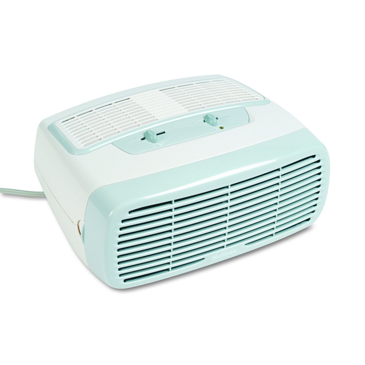 Holmes Small Room 3-Speed HEPA Air Purifier Optional Ionizer, White