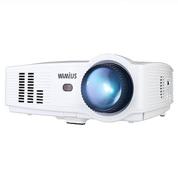 Amazon.com: Proyector, WIMIUS T4 3500 lúmenes proyector de ...