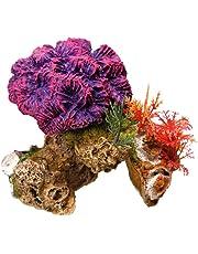 Nobby Coral Piedra con Plantas Acuario Adornos, 13x 10x 12cm