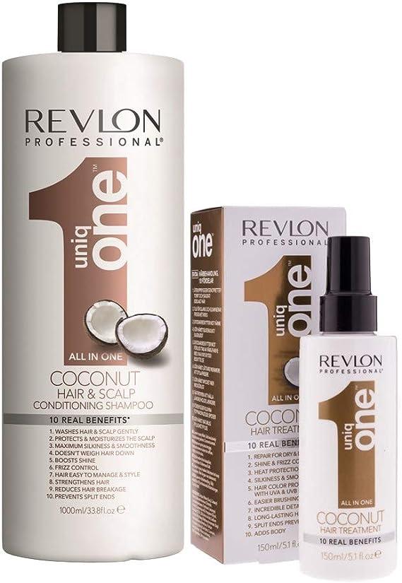 Pack Revlon Uniq One Champu Coconut 1000ml + ...