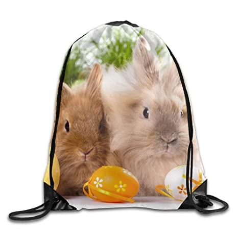 Drawstring Backpack Easter Pumpkin Bags Knapsack For Hiking