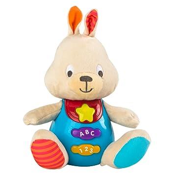 Winfun - Peluche Conejo para bebés que habla & luces de colores - Idioma: español