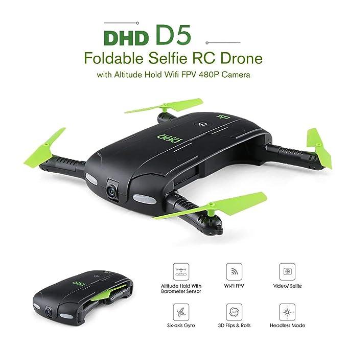 Tree-on-Life DHD D5 WiFi FPV Plegado Selfie Drone Altitud Modo de ...