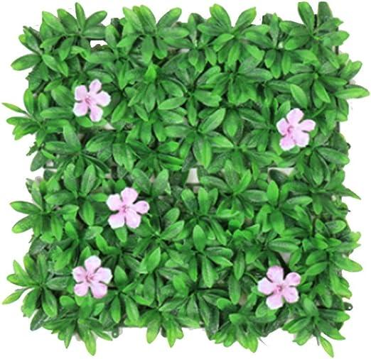 YNFNGXU Artificial Madera De Boj Falso Verde Decoración De Flores Mixtas Jardín Exterior Cubierta De Valla Verde 50x50 Cm (Color : A, Tamaño : 50x50CM): Amazon.es: Hogar