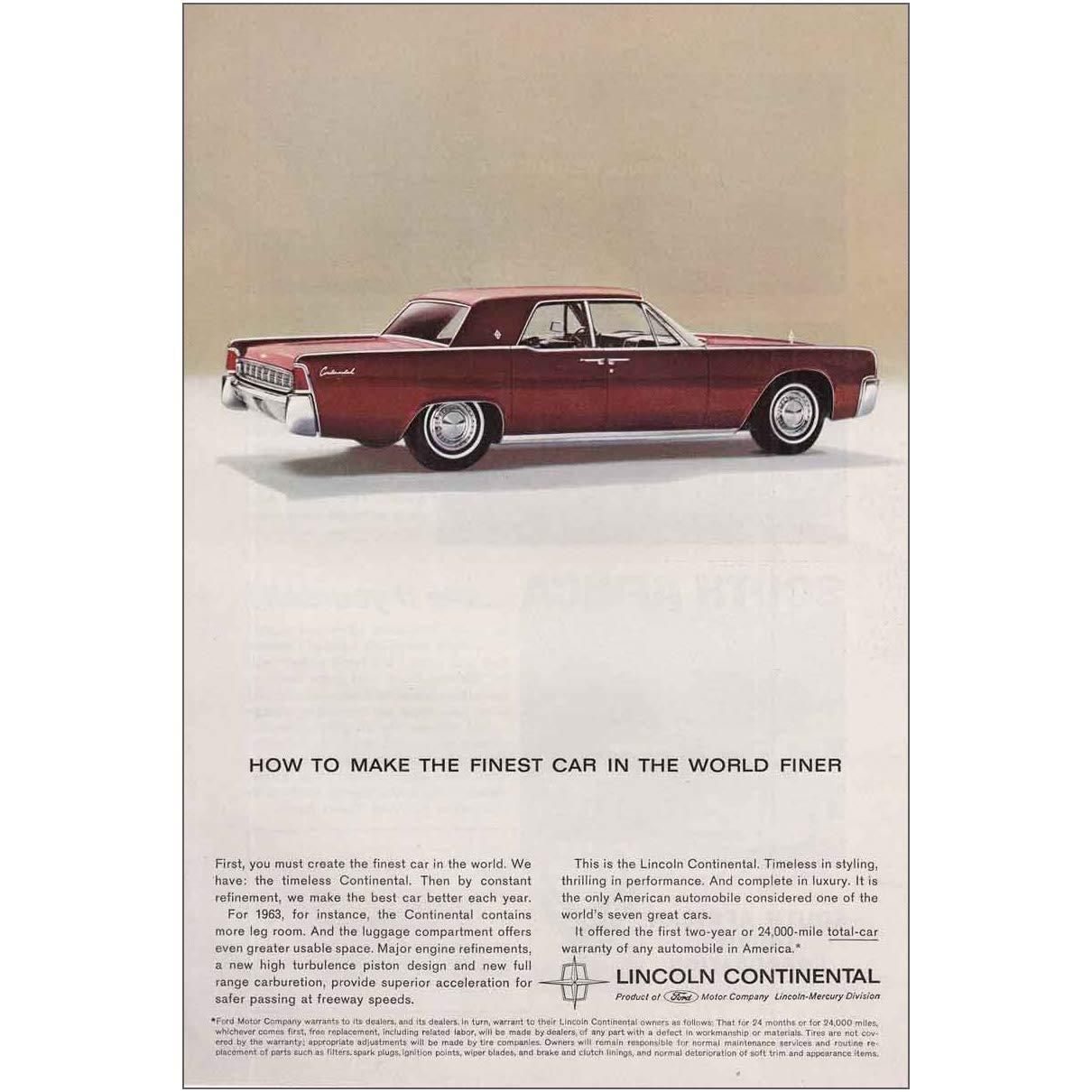 Amazon Com Relicpaper 1963 Lincoln Continental Finest Car In The