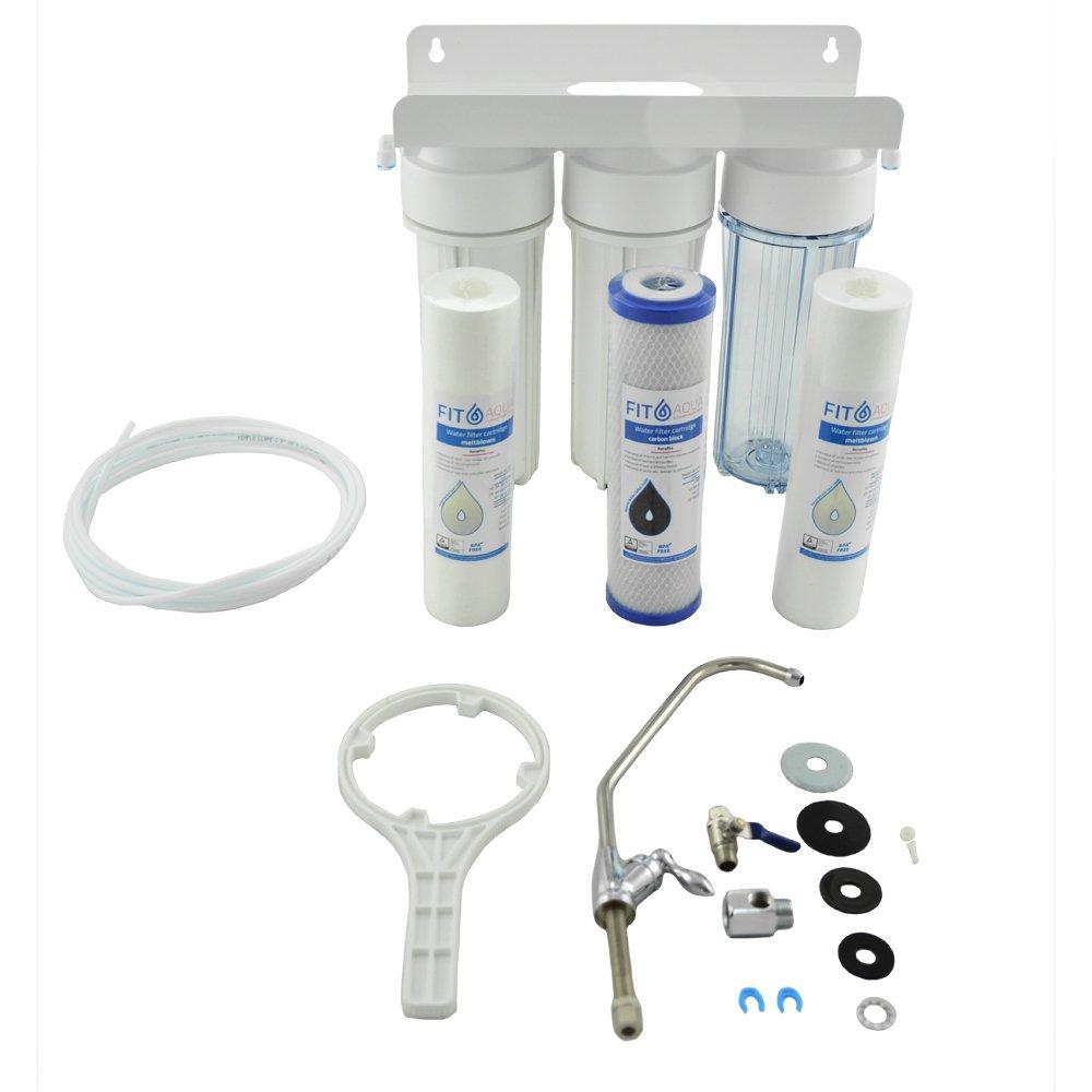 Fit aqua AWF-UPS-3H Hä usliche dreistufige Wasserfilter Komplettset original Made in EU FitAqua