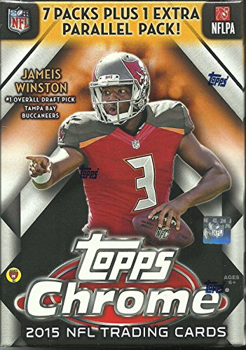 2015 Topps Chrome NFL Football Series Unopened Blaster Box with a Rookie Card in Every Pack and 4 EXCLUSIVE REFRACTORS ()