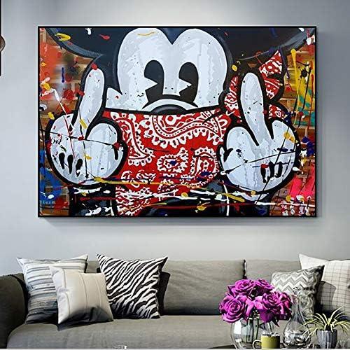 N / A Pintura sin Marco HD Lienzo impresión nórdica de Dibujos Animados Lindo ratón Arte decoración de la Pared Cartel para el hogarZGQ6712 40X60cm