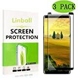 [3-Pack] Samsung Galaxy Note 8 PET Screen Protector, Linboll [Bubble Free ][Easy Installation] 3D PET HD Screen Protector Film for Samsung Galaxy Note 8 - Black