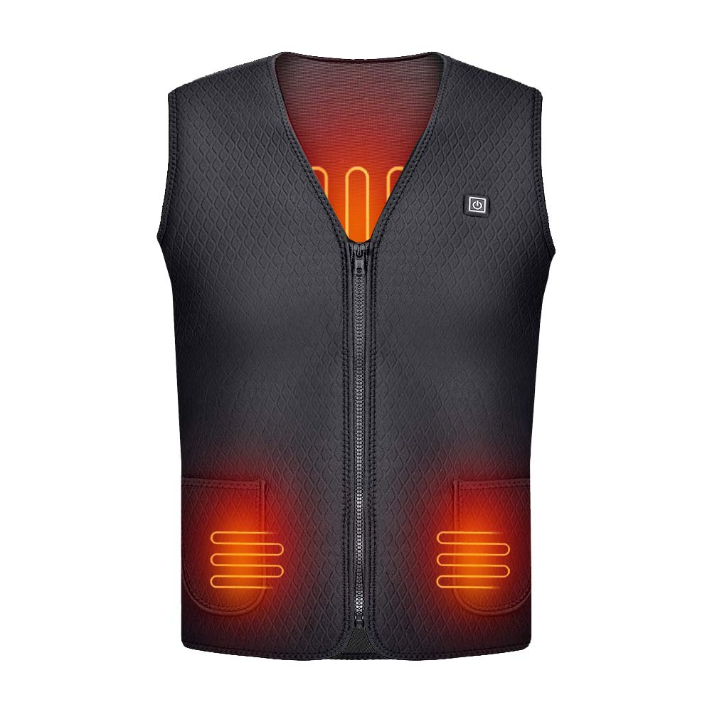 Cocobla 2019 Upgrade Electric Heated Vest Lightweight USB Rechagable Heating Warm Waistcoat Down Gilet