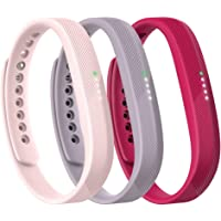 Fitbit Flex 2 - Pack de accesorios (3 piezas), Rosado, Large