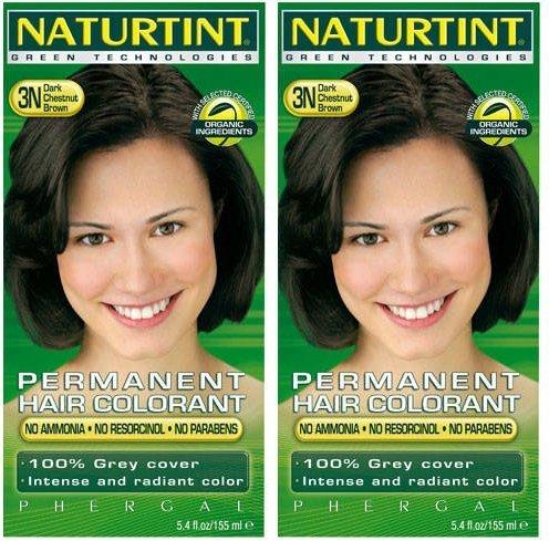 (2 Pack) - Naturtint - Hair Dye - 3N Dark Chestnut Brown | 135ml | 2 PACK BUNDLE -
