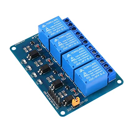 Amazon com: Dorhea 4 Channel DC 5V 10A Relay Module with