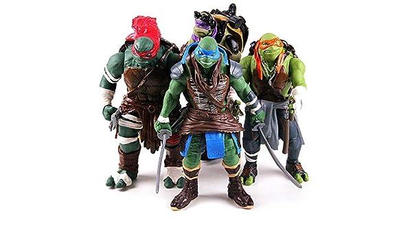 JXMODEL Las Tortugas Ninja Figuras De Acción Modelo Retro ...