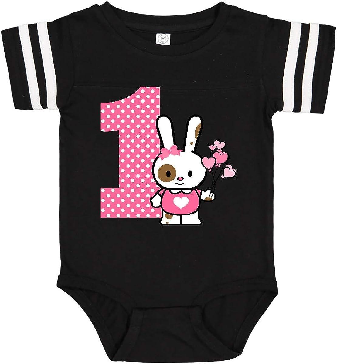 inktastic Valentine Bunny 1st Birthday Infant Creeper