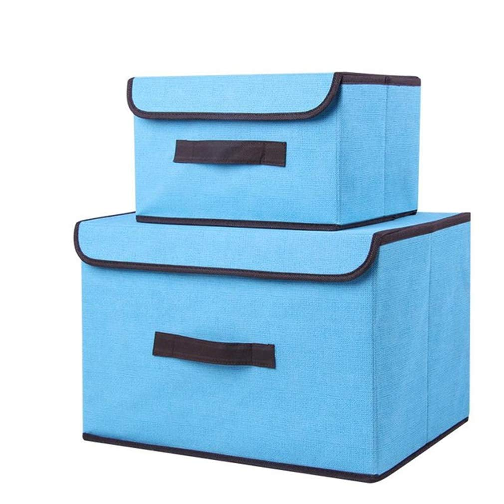 VADOLY 2Pcs Foldable Clothes Storage Box for Cosmetics Pets Underwear Folding Closet Organizer Drawer Divider Container