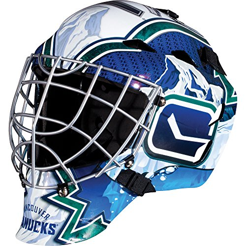 Franklin Sports Vancouver Canucks Goalie Mask - Team Graphic Goalie Face Mask - GFM1500 Only for Ball & Street - NHL Official Licensed Product
