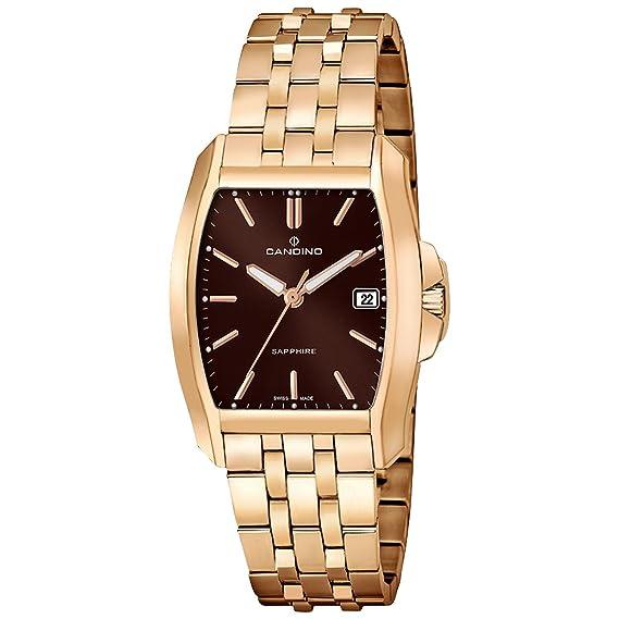 Candino Tradition - Reloj de pulsera analógico de cuarzo Acero inoxidable 316 L uc4400/5: Candino: Amazon.es: Relojes