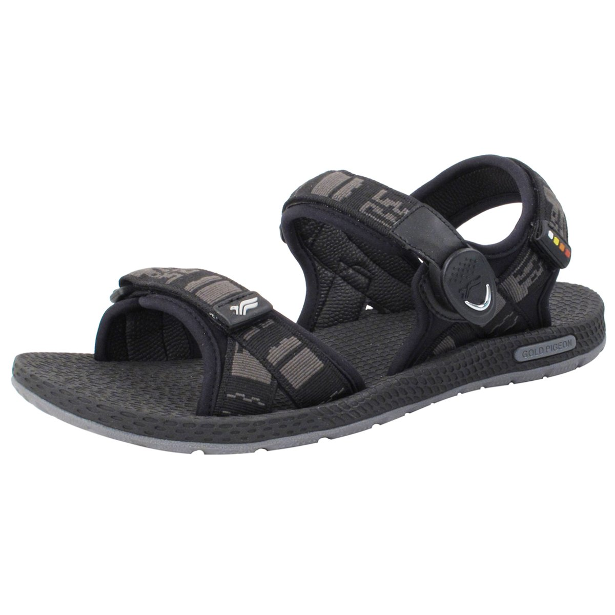 Gold Pigeon Shoes GP5931 Light Weight Adjustable Outdoor Water Sling Back Sandals for Men & Women B0796MQ4GC EU44: Men 11/11.5 (292.4mm)|8658 Black With Snap Lock