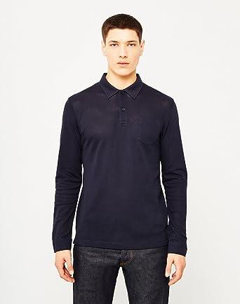 3c97db697230 Sunspel Riviera Long Sleeve Mens Polo Shirt in Navy Blue XXL: Amazon.co.uk:  Clothing