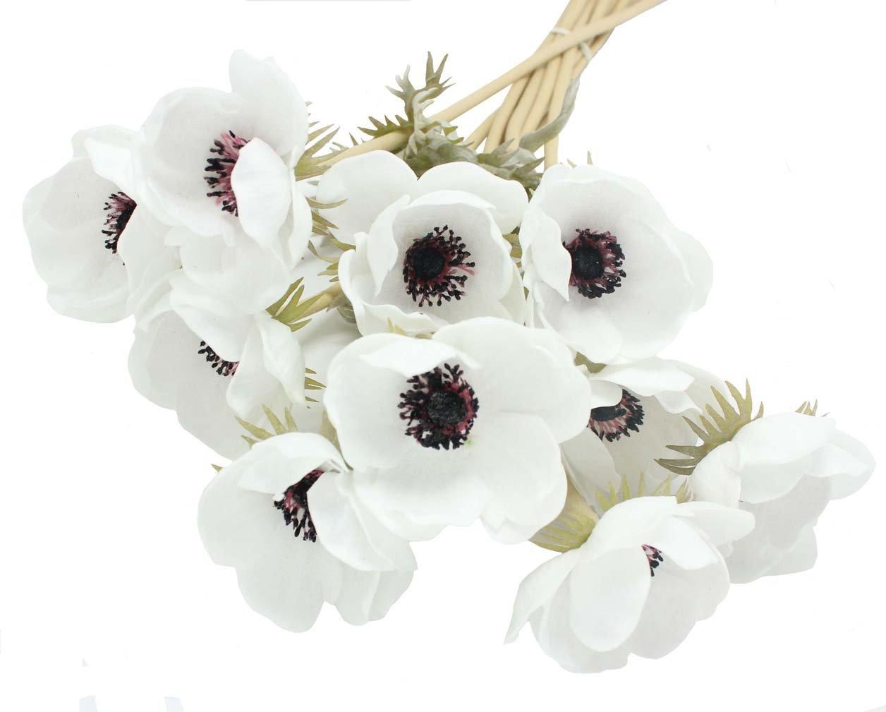 ENGE-10-Heads-Mini-Artificial-Anemone-Wedding-Bridal-Bouquet-Home-Flower-Grass-Rose