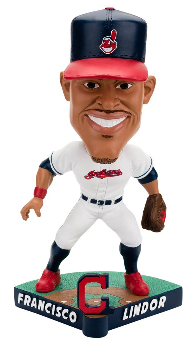Forever Collectibles NBA Cleveland Cavaliers Mens Cleveland Indians Bobble Caricature Style Francisco Lindor Design Special Order, Team Colors One Size