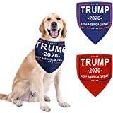 GABraden Trump 2020 American Flag Dog Bandanas,Presidential 2020 Dog Scarf,for Medium Small Large Dogs and Kitten Pets…