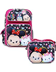 Disney Tsum Tsum 16 inches Girls Backpack & Lunch Box NEW Licensed