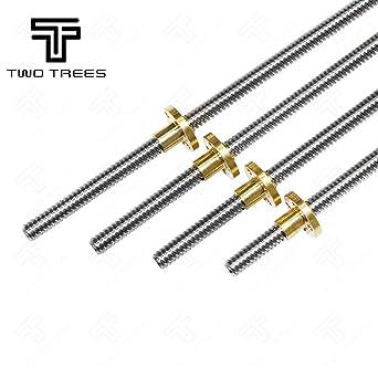 100 to 400mm Lead Screw Rod T8-2 8mm Stepper Motor 3D Printer Accessories Nut