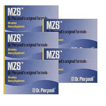 Melatonin MZS Sleep Disorder & Reversal of Macular Degeneration 60 Count (5 Pack - 300