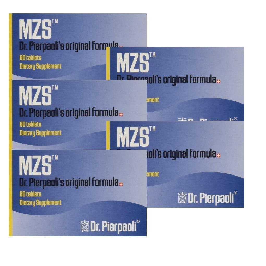 Melatonin MZS Sleep Disorder & Reversal of Macular Degeneration 60 Count (5 Pack - 300 Capsules)