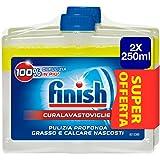 Finish Curalavastoviglie Additivo Lavastoviglie, Limone, 2 x 250 ml