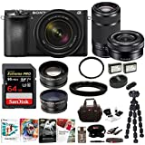 Sony a6500 Mirrorless Camera with 18-135mm f/3.5-5.6, 16-50mm and 55-210mm Lens