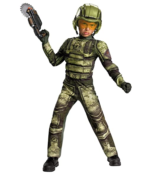 Operation Rapid Strike Red Sector Foot Soldier Classic Muscle Boys Costume, 10-12