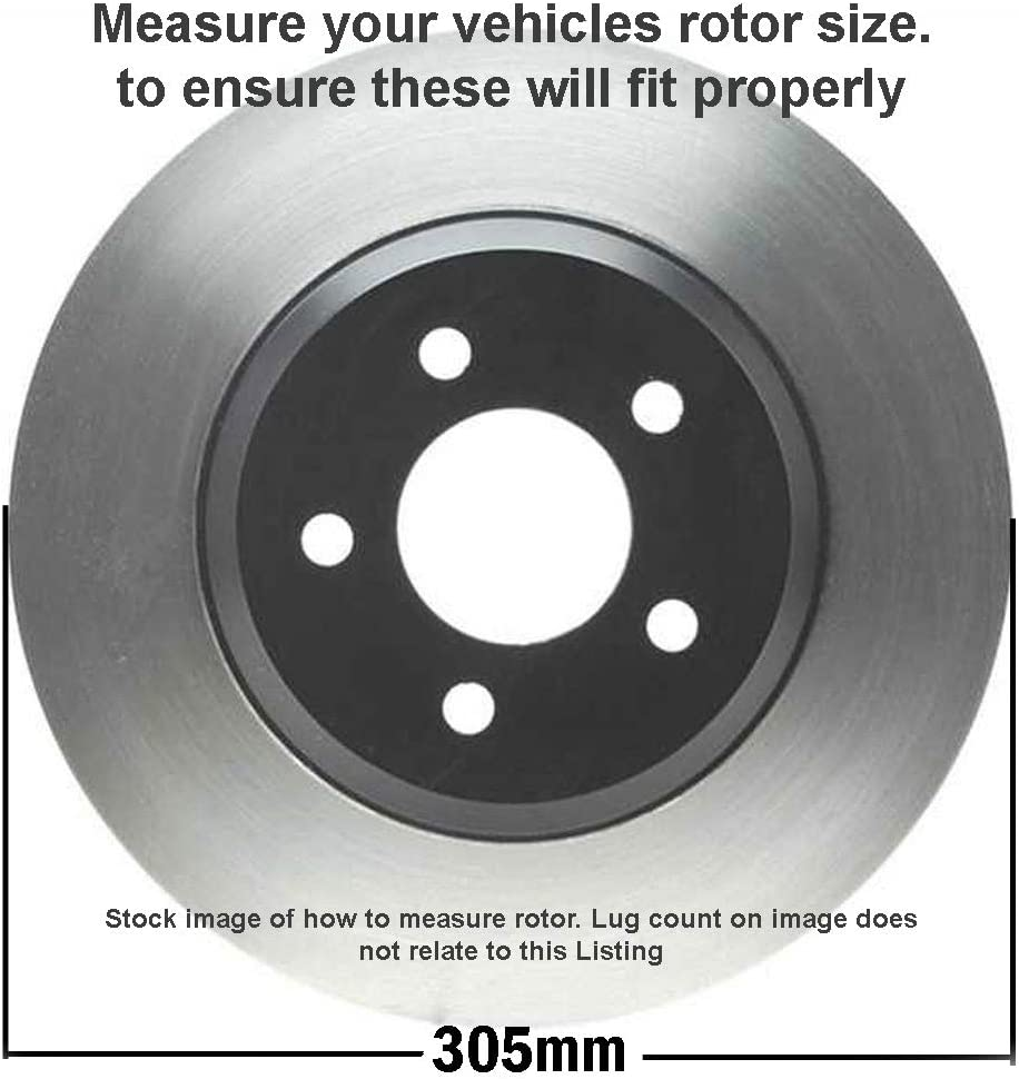 Rear Brake Drums 4-Wheel ABS Detroit Axle Replacement for Chevy GMC Silverado Sierra 1500 Front Drilled /& Slotted Disc Brake Rotors
