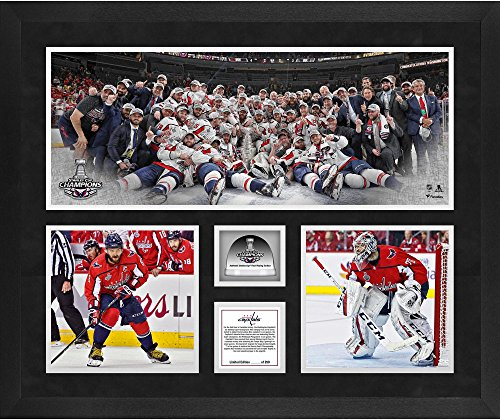 Three Photograph Collage - Washington Capitals 2018 Stanley Cup Champions Framed 20'' x 24'' 3-Photograph Collage with Game-Used Ice from the 2018 Stanley Cup Final - Limited Edition of 250 - Fanatics Authentic Certified